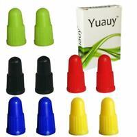 Yuauy 2 PC x 5 Colors Valve Cap Dust Covers for MTB PRESTA Bike Bicycle Road Rac