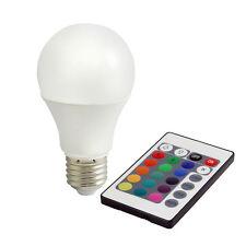 7,5W LED Lampe WARMWEISS + RGB Farbwechsel mit Fernbedienung E27 BIOLEDEX RGBW