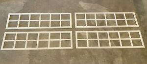 4 Amarr Stockton Decratrim Window Inserts Long Panel White Garage Door Curb Appl