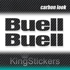2 ADESIVI BUELL STICKERS DECAL moto CARBON LOOK carbonio