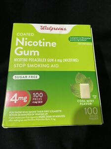 nicotine gum 4mg 100 Pieces Cool Mint Flavor