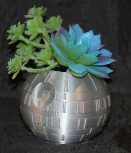 DEATH STAR WARS inspired ~ Flower Succulent Air Plant Pot Planter Figure