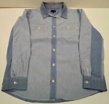 PAUL SMITH JUNIOR Boy's Blue & White Cotton Check Stripe Cotton Shirt Top 10A