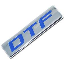 CHROME/BLUE METAL DTF ENGINE RACE MOTOR SWAP BADGE FOR TRUNK HOOD DOOR