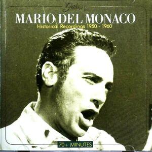 Mario Del Monaco - Historical Recordings, 1950-1960  -  CD, VG