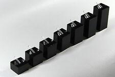 7 X Plaza en Forma Anillo De Acrílico Negro Joyas expositores Libre P&P a Reino Unido