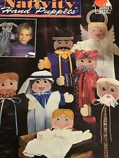 "Annie's Attic Plastic Canvas Patterns ""Nativity Hand Puppets"" Christmas Puppets"