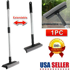 Newly Telescopic Extendable Window Squeegee Cleaner Scrubber Brush Wiper Sponge