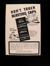1953 Dont Touch Blasting Caps Call a Policeman Fuse~Electric Scout Council AD