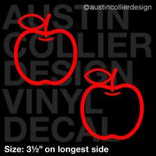 """Set of 2 * 3.5"""" APPLE vinyl decal car window laptop sticker - cute teacher gift"""
