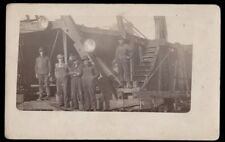 Early 1900's Heavy Machinery & Work Crew - Lumbering or Ditching ?? - RPPC