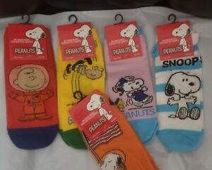 """5 different pairs of """"PEANUTS & SNOOPY"""" no show womens socks"""