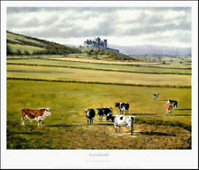 More details for rock of cashel - limited edition print from a painting by peter deighan
