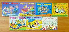Lot 7 PIG MATH Picture Books Amy Axelrod Pigs on a Blanket Go to Market