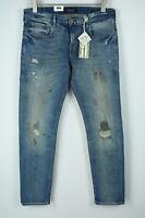 RRP€139 SCOTCH & SODA TYE Men's W33/L32 Slim Distressed Stained Jeans 5426*mm