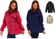 Lightweight Unisex Ladies Mens Kagoul Showerproof Rain Coat Jacket Mac Cagoule