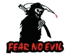 Fear No Evil Grim Reaper Patch F018P Biker Tattoo Harley Davidson Motorcycle