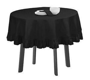 Vargottam Ruffle Tablecloth Kitchen Dining Tabletop Cover Decoration-TJj