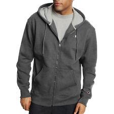 2 Champion Men s PowerBlend Fleece Full Zip Jackets S0891 L Granite Heather 3d99d7f0c