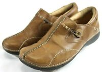 Clarks Unstructured $70 Women's Loafers Shoes Size 7.5 Slip-ons Leather Brown