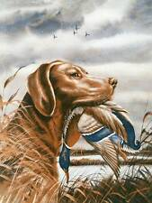 Brown Labrador Retreiver with Duck, by Lynn Bogue Hunt