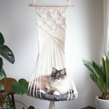 Bohemian Handwoven Tapestr Cotton Pet Cat Hammock Swing Bed Macrame Home Bedroom