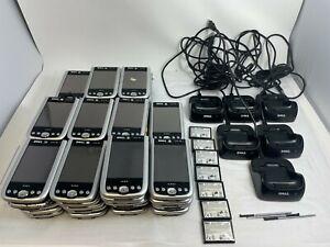Mixed Lot 54 Dell Axim X50, X51, X50V Pocket PC PDA Batteries Pens Charging Dock