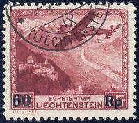 LIECHTENSTEIN 1935, MiNr. 248 I, guter Plattenfehler, gestempelt, Mi. 250,-