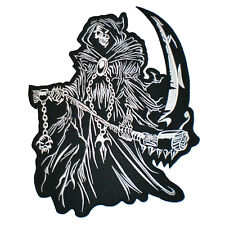 CHOPPERS Skull Death Sword Hardcore Rider Giant XL Biker Back Jacket Patch 11/""