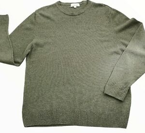 House Of Bruar Mens Jumper 100% Pure British Lambswool Size M Brown Crew Neck