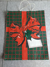 Vintage Christmas Holiday Paper Shopping Present Bag ~ Large Made in Canada