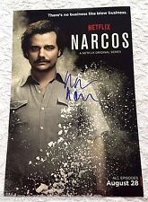 Wagner Moura Firmato Narcos 12X18 Foto Poster W/ Coa Proof Pablo Escobar Netflix
