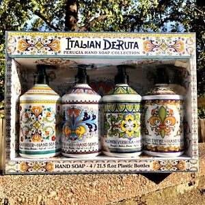 Combo Set 4, Italian Deruta Hand Soap Collection, 21.5 fl oz Each