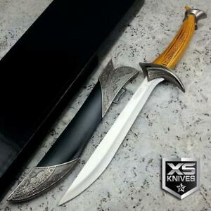 """11.5"""" Fixed Blade MEDIEVAL Fantasy DAGGER Knife W/ DECORATIVE Sheath COLLECTIBLE"""