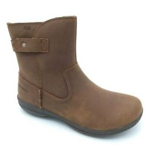 Merrell Womens Encore Kassie Boots Brown Mid Calf Side Zip Waterproof 5.5 M New