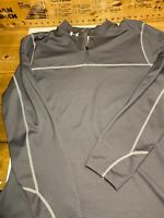 UNDER ARMOUR COLD GEAR LOOSE 1/4 ZIP FLEECE SOFT SHELL JACKET SIZE 2XL Gray