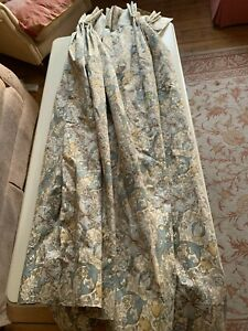 Pair of William Morris Golden Lily curtains, 51in (129.5cm) wide by 54.5in (138.