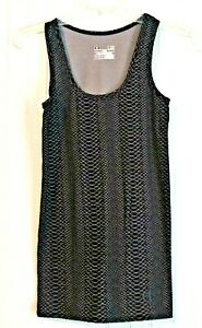 Under Armour Heat Gear Women's Athletic Fitted Tank Top BLACK/Gray  Geo Print S