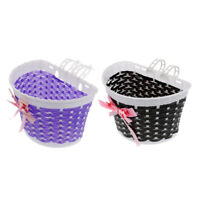 2Pcs Bicycle Bike Kids Girls Boys Children Child Front Basket Black Purple