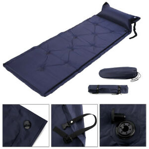 180*60cm SINGLE INFLATING CAMPING ROLL MAT/INFLATABLE BED SLEEPING MATTRESS +BAG