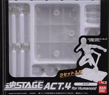 Tamashii Stage Act 4 Humanoid Clear Stand S.H Figuarts S.I.C Stand Pack NEW