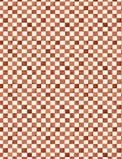 EARLY TO RISE RED CHECK FABRIC