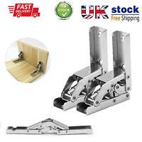 90 Degree Folding Door/Shelf Hinge Invisible Furniture Bracket Table Holder UK