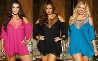 Women babydoll Teddy Lingerie Black Sexy Nightwear 8 10 12 14 16 18 20 22 24 26