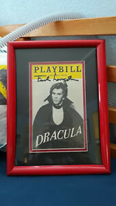 Autographed Signed Frank Langella Dracula Playbill Professionally Framed