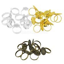 30x Instellbare Ringe für Frauen und Mädchen DIY Schmuck Herstellung Zubehör