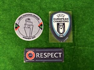 OFFICIAL PLAYER ISSUE Portugal UEFA Nations League 2020 Patches