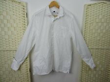 TOPMAN white cotton long sleeved shirt M/L