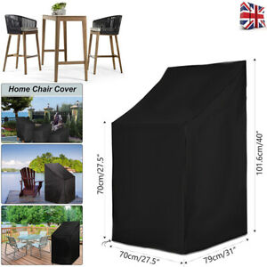 Large Stacking Chair Protection Cover Anti UV Rain Snow Garden Patio Furniture