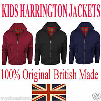 KIDS VINTAGE HARRINGTON JACKET CLASSIC RETRO SCOOTER 1970'S BOMBER MOD COAT TOP